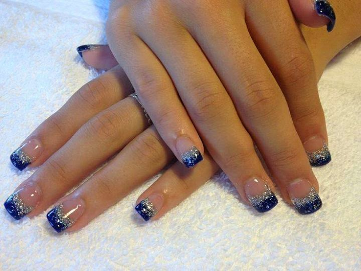 full set builder gel nails in majestic blue and hazed silver-LED-polish-manicure-natural-nails-classic-French-acrylics-simple-nail-art-acrylic-gelish-gel-Nail-Polish-OPI-Lacquer-Pedicure-care-natural-healthcare-beauty-pink