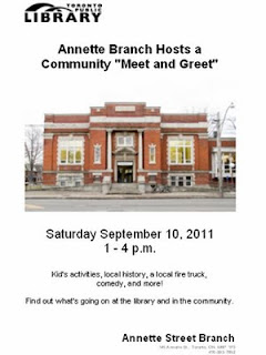 West Toronto Junction Community Meet and Greet, September 10, 2011; 1 - 4 p.m.