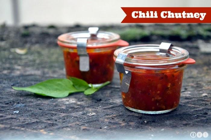 Chili Chutney mit selbstgezogenen Chilis & Peppers
