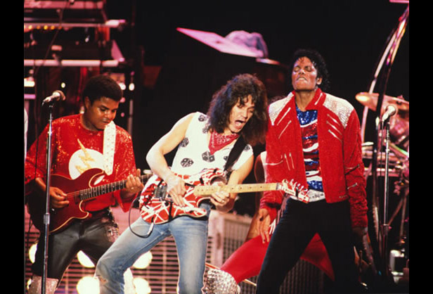 "When the Jackson's Victory Tour dates overlapped with Van Halen's 1984 Tour dates in Dallas, Texas, the two groups treated fans to a live collaboration. The groups were already good friends; Eddie Van Halen originally performed the guitar solo for Michael Jackson's ""Beat It"" single, which was featured on the album Thriller (1982)."