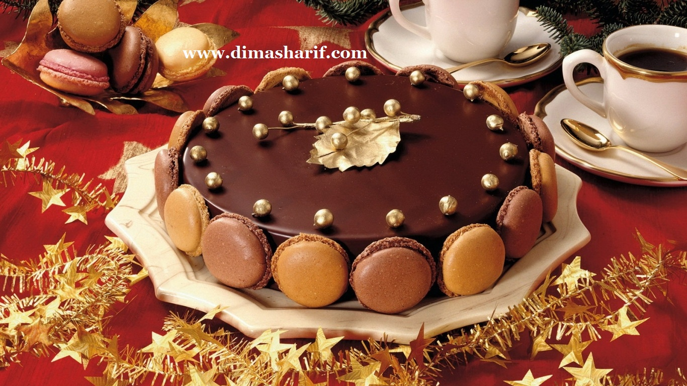 Dima sharif: chocolate mousse macaron cake, a glamorous dessert ...