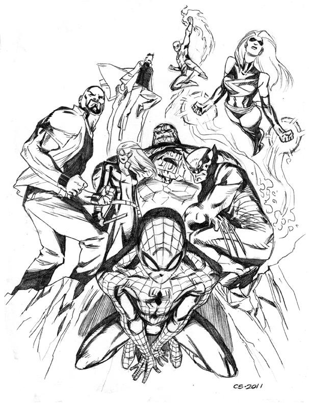 Cory Smith New Avengers Sketch