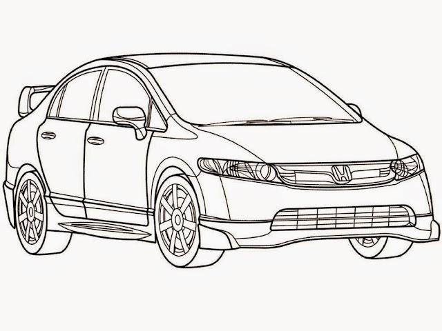 Honda Civic Mugen Coloring Pages