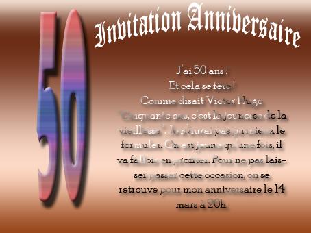 Modele Texte Anniversaire Gratuit 50 Ans Wizzyloremaria Official