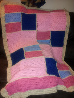 patchwork crochet baby afghan