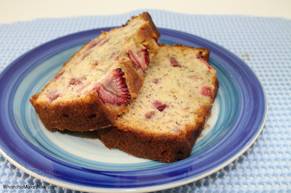 Strawberry Banana Bread - all the goodness of banana bread with a punch of sweetness from strawberries
