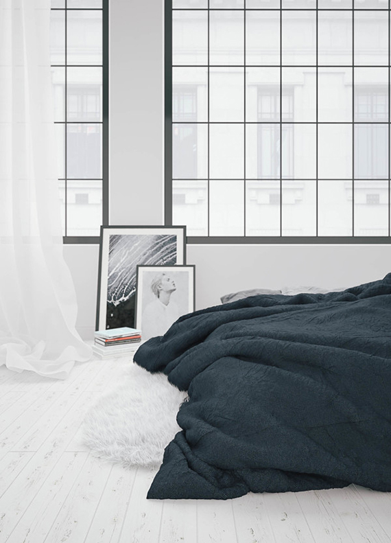 The weekend my paradissi Industrial scandinavian bedroom