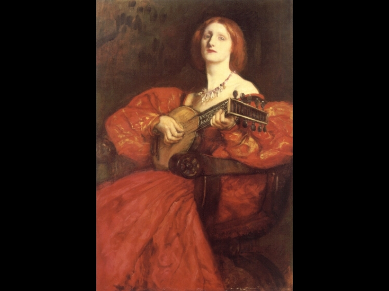 Edwin Austin Abbey lute player