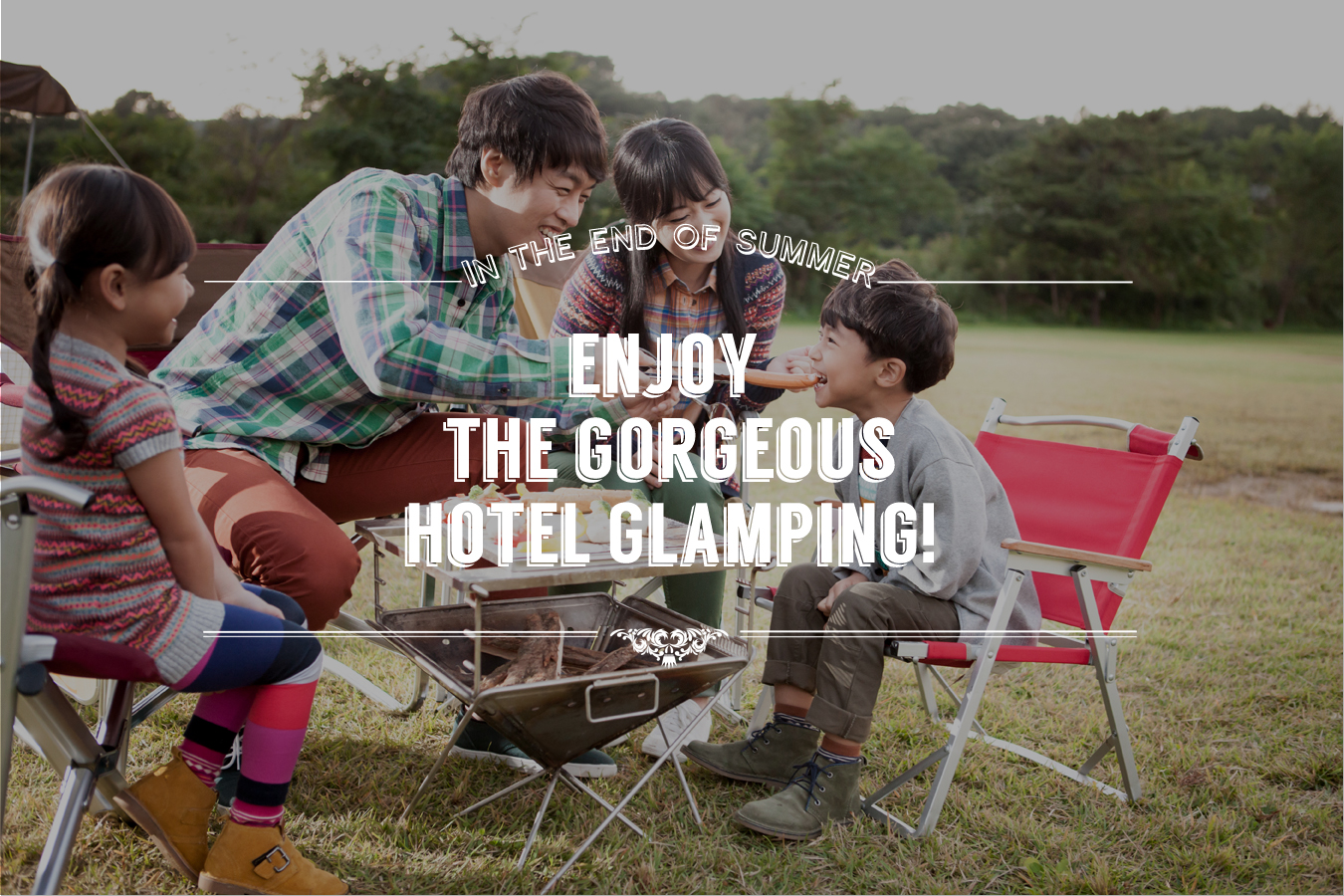 Enjoy the gorgeous hotel glamping in the end of the summer!
