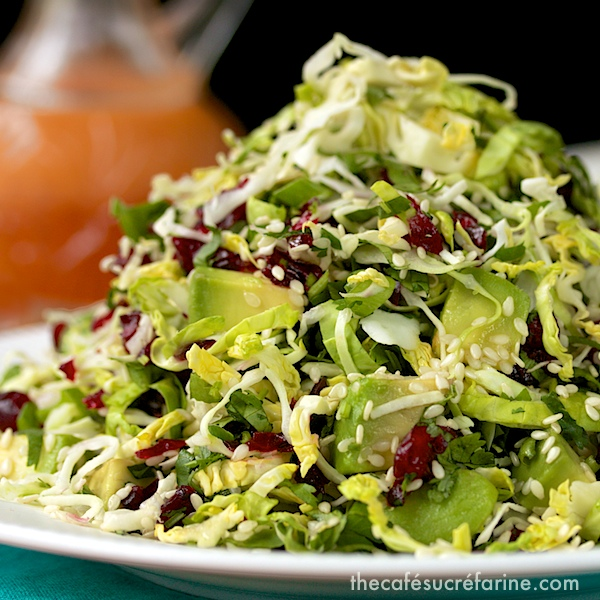 California Avocado & Shaved Brussels Sprout Salad w/ Honey-Ginger ...