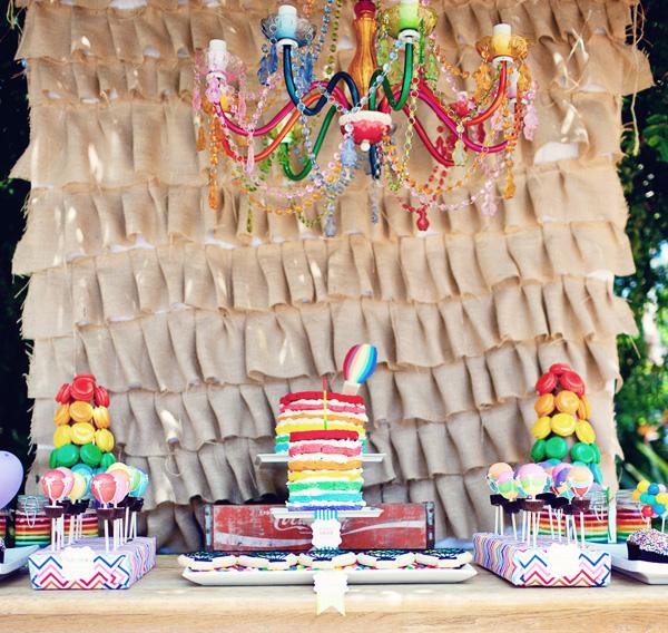 Hot Air Balloon Birthday Party! - Kara's Party Ideas - The Place