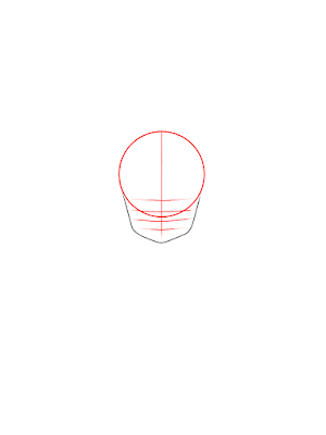 cara menggambar Goku kecil tahap 3