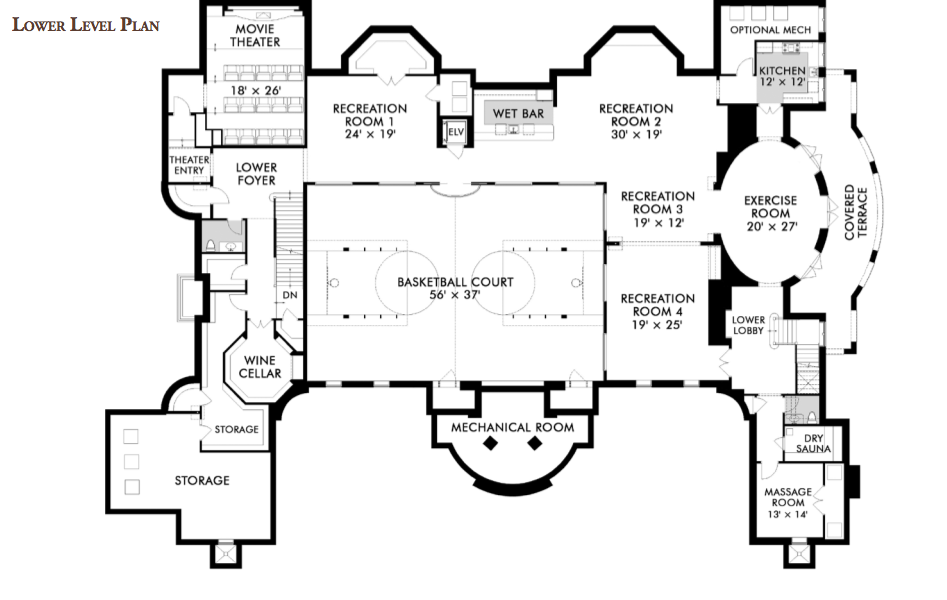 Alpine Mansion Floor Plans