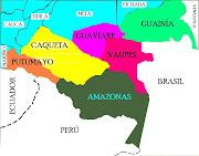 REGIÓN AMAZONIA. División política. La Región Amazónica de Colombia, . (ramazonia)