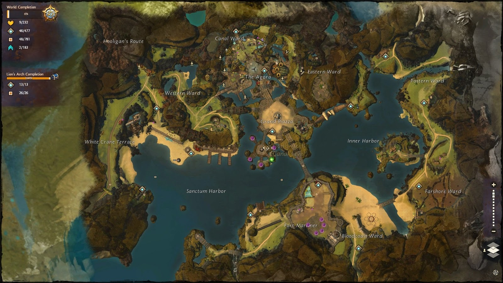Nizaams game art blog elements of game design part eight open world map guild wars 2 gumiabroncs Gallery