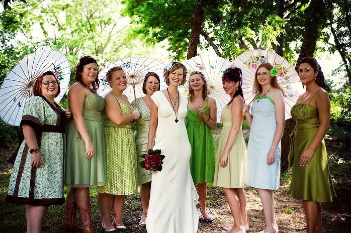 Far Flung Fiance Non Matching Bridesmaids
