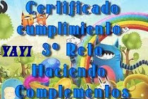 CERTIFICADO PARTICIPACION 3 RETOMANIA COMPLEMENTOS KIKA