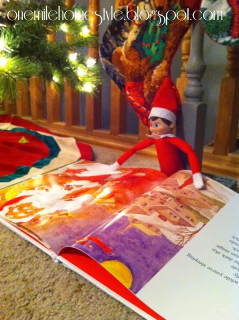 Reading the Elf on the Shelf book