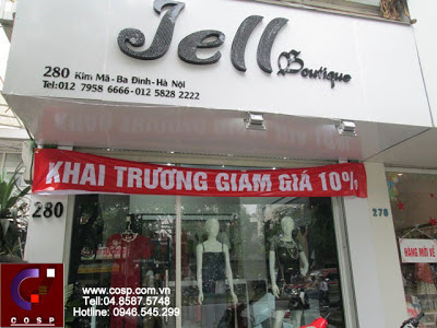 thiết kế shop thời trang jell boutique 1