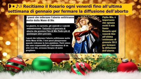 ❥•♪♫ Recitiamo il Rosario ogni venerdì PER FERMARE LA DIFFUSIONE DELL'ABORTO