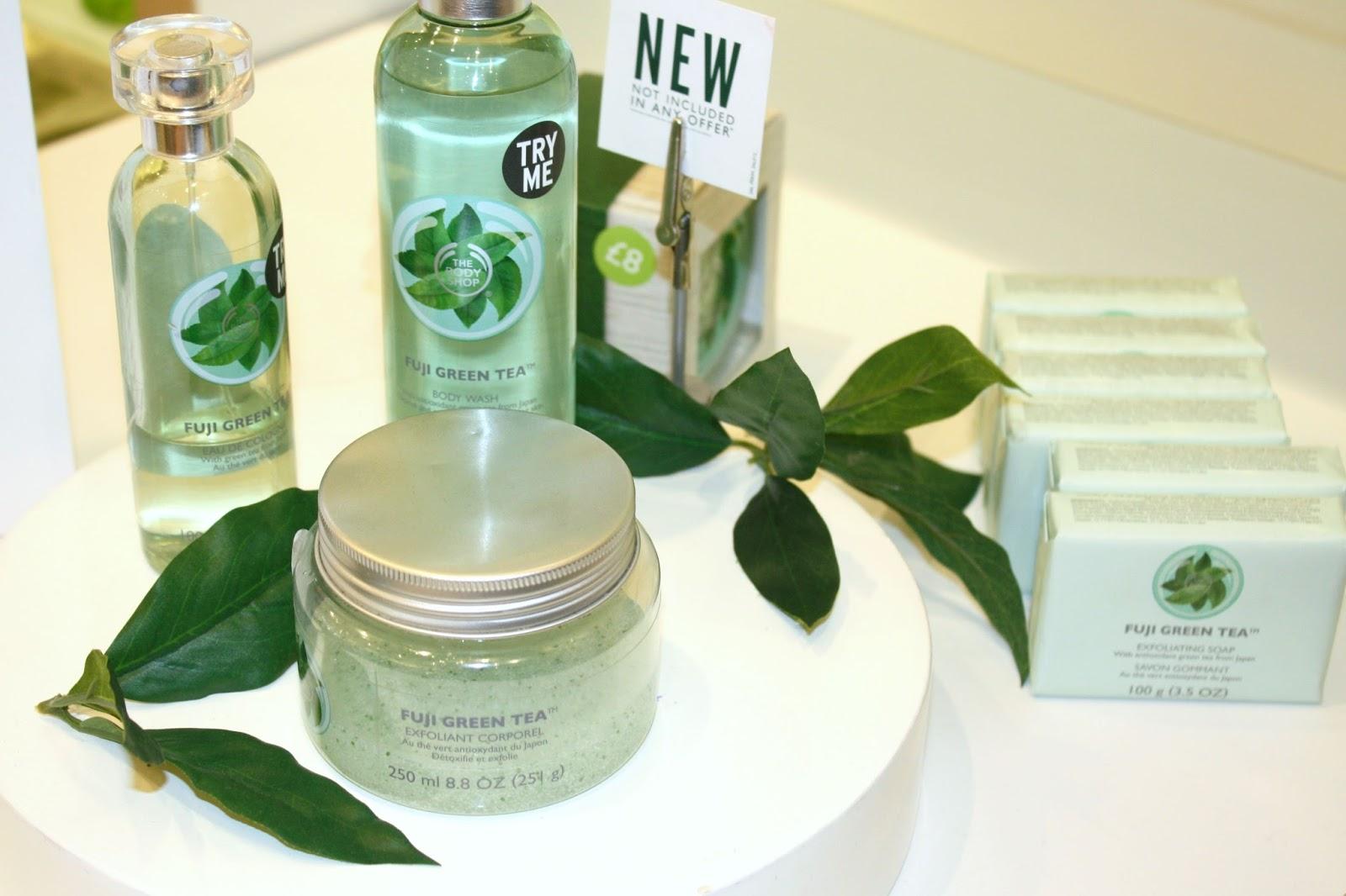 The Body Shop Southampton Spa Of The World Event Fuji Green Tea Range