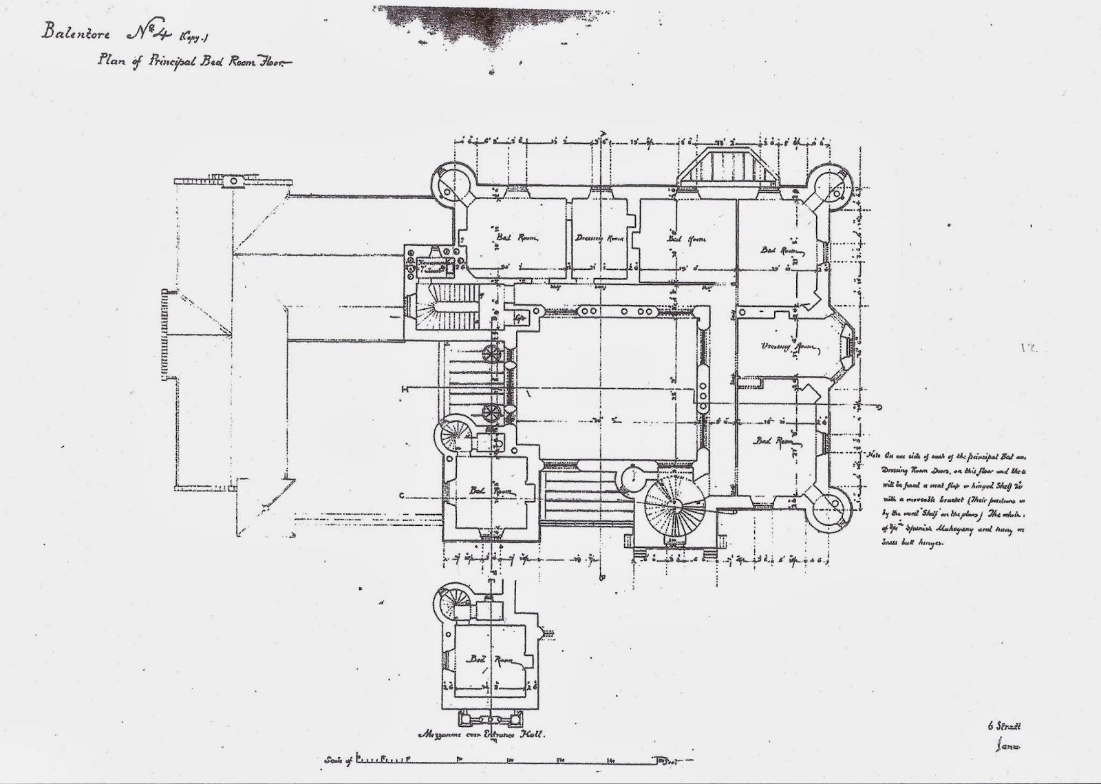 balintore castle restoration project november 2013 plan 4 principal bed room floor