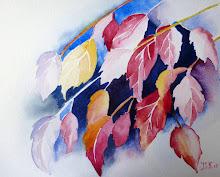 Vrolijk gekleurde bladeren
