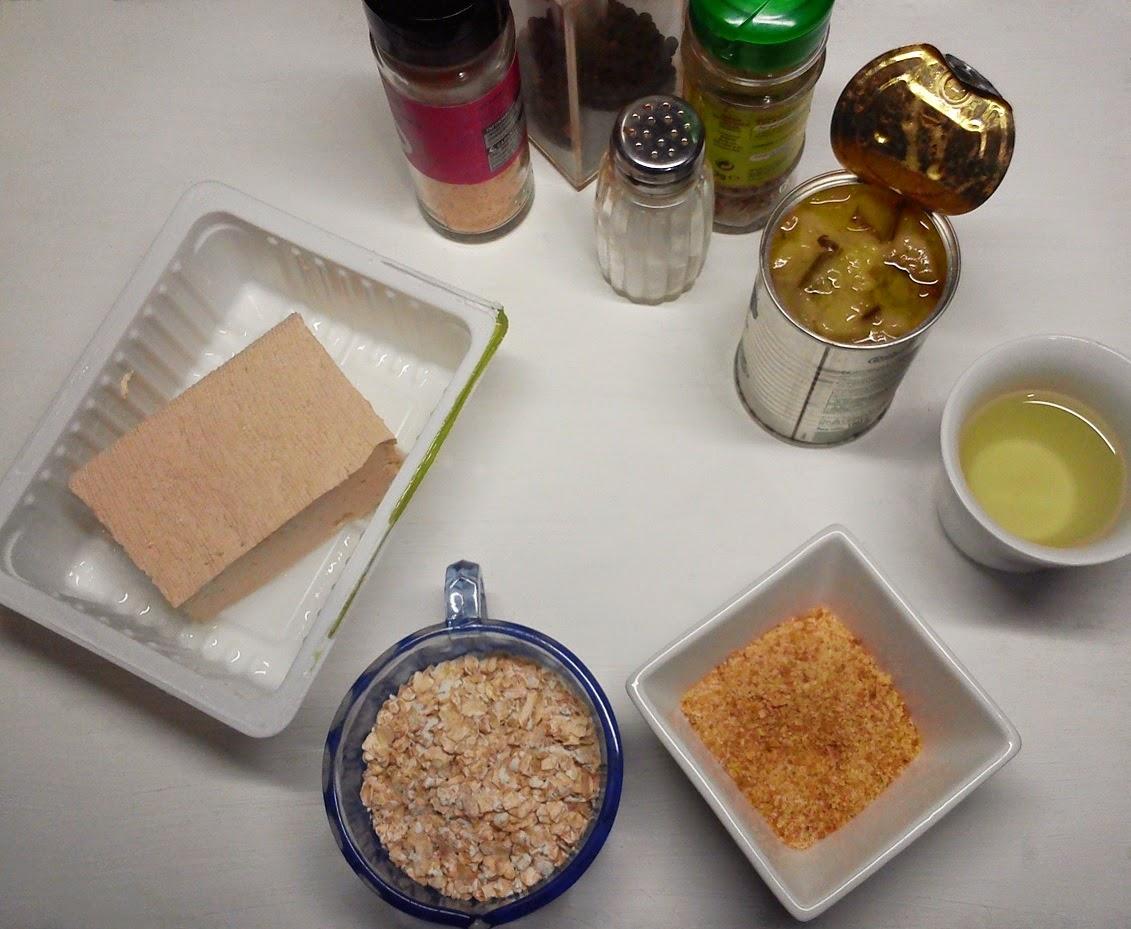 Hamburguesa Fácil de Tofu y Avena, Ingredientes Necesarios