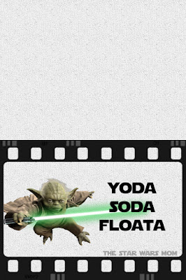 Star Wars Party Printable Yoda Soda Floata