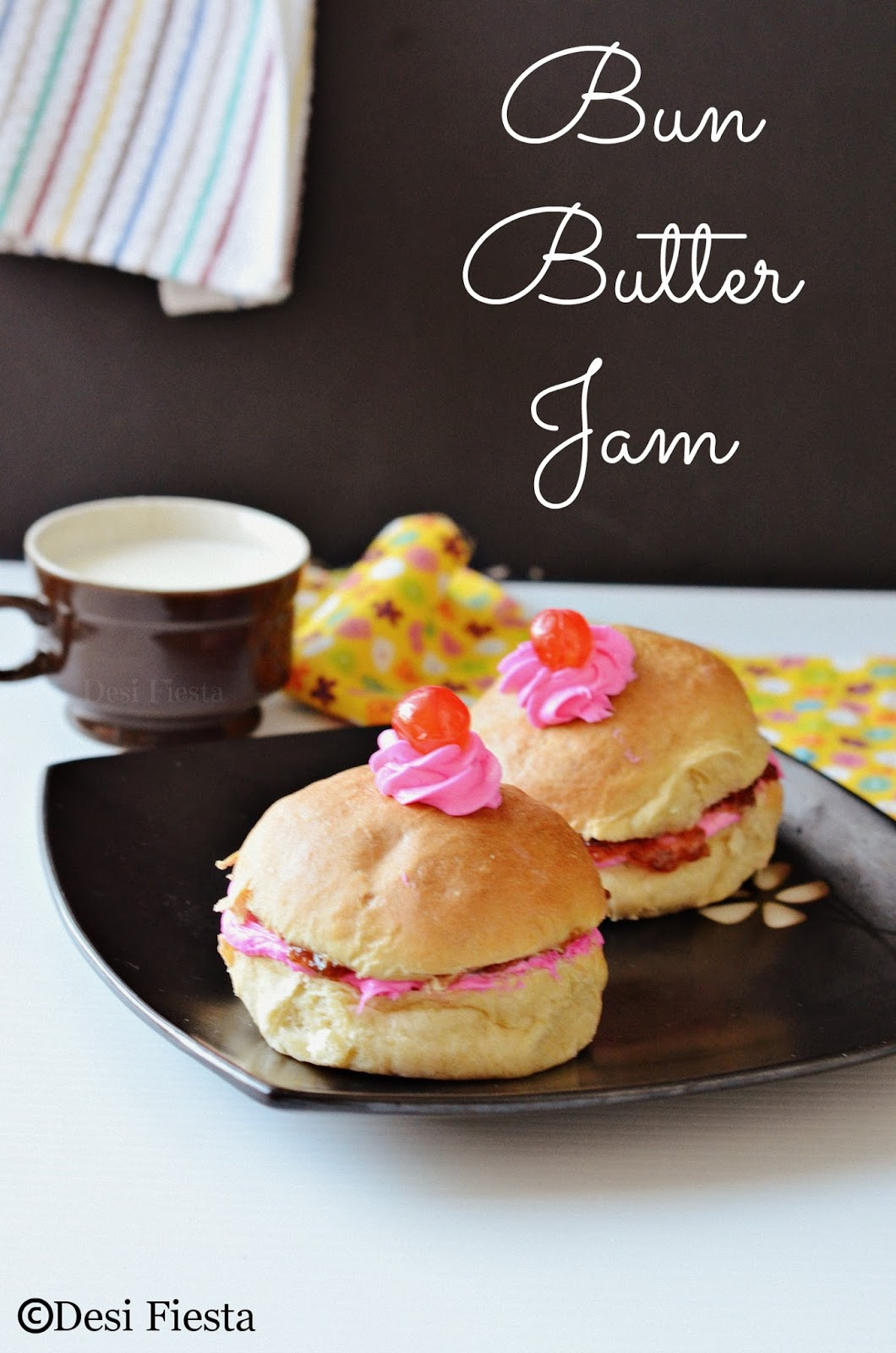 Indian bakery, Bun Butter jam