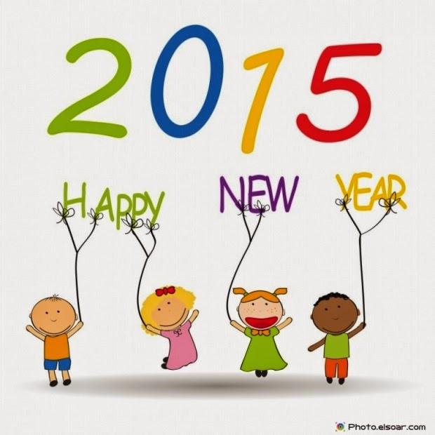 Happy New Year ngộ nghĩnh trẻ thơ