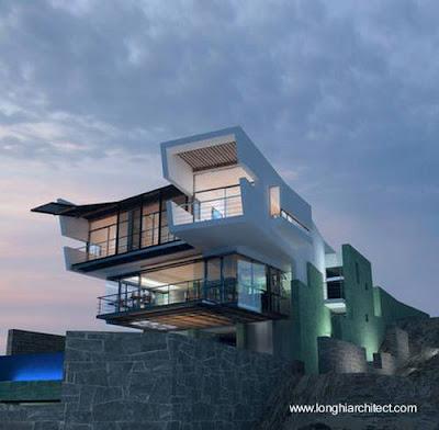 Arquitectura peruana casa de playa