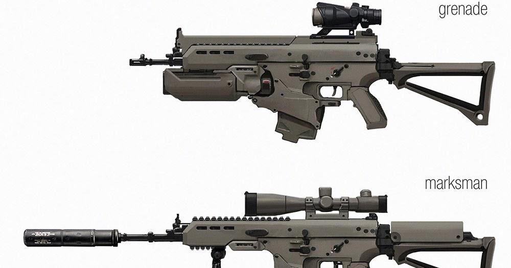 kischis art assault rifle concept