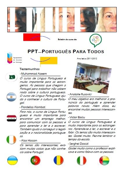 Boletim do PPT - Português Para Todos