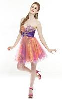 Къса рокля за бал в цветовете на дъгата, дизайнер Riva Design