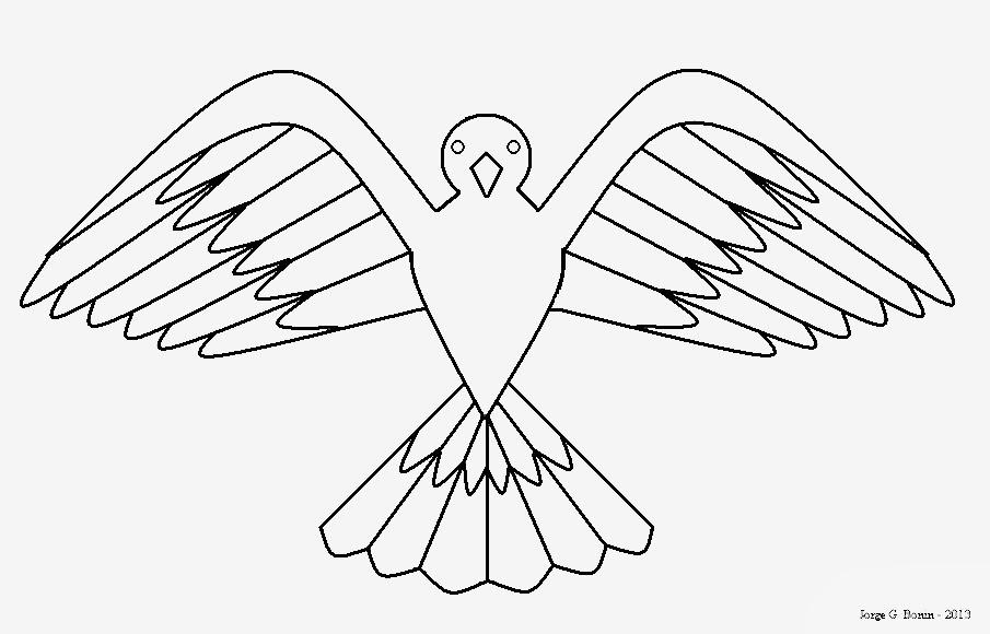 Preferência Arte no Paint: Desenho para colorir: pássaro HG04
