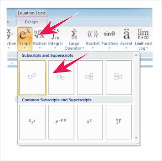 Membuat Rumus Matematika Dengan Mudah Pada Ms Office