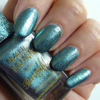 Barry M Superdrug Xmas 2012 Limited Edition Blue Foil Swatch