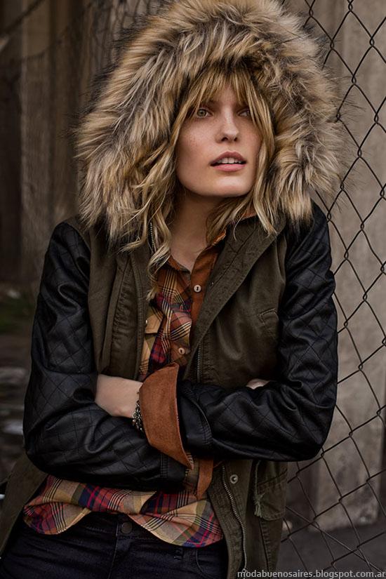 Camperas con capuchas de piel invierno 2015 Tannery.