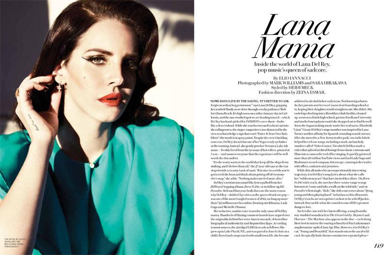 Lana del rey for fashion magazine summer 2013 full editorial