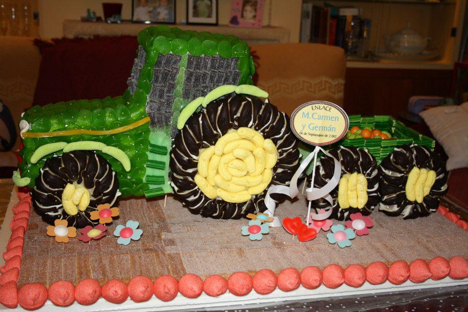 Mis ratillos dulces tartas de chuches ii - Como hacer un carrito de chuches paso a paso ...