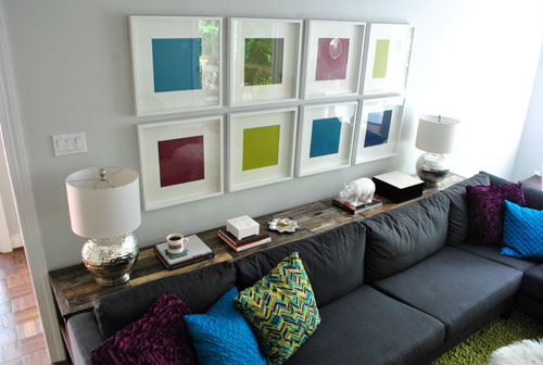 Behind Sofa Storage : Ever since I saw Young House Loves behind-the-sofa console table , I ...