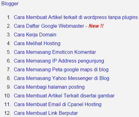 Cara Membuat Daftar Isi Blog Website Jasa Setting Blog Website Bege