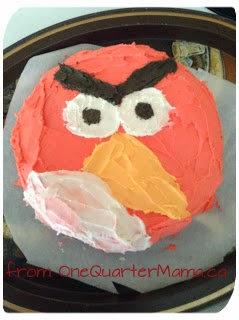 Angry Birds vegan glutenfree nutfree cake by http://onequartermama.ca