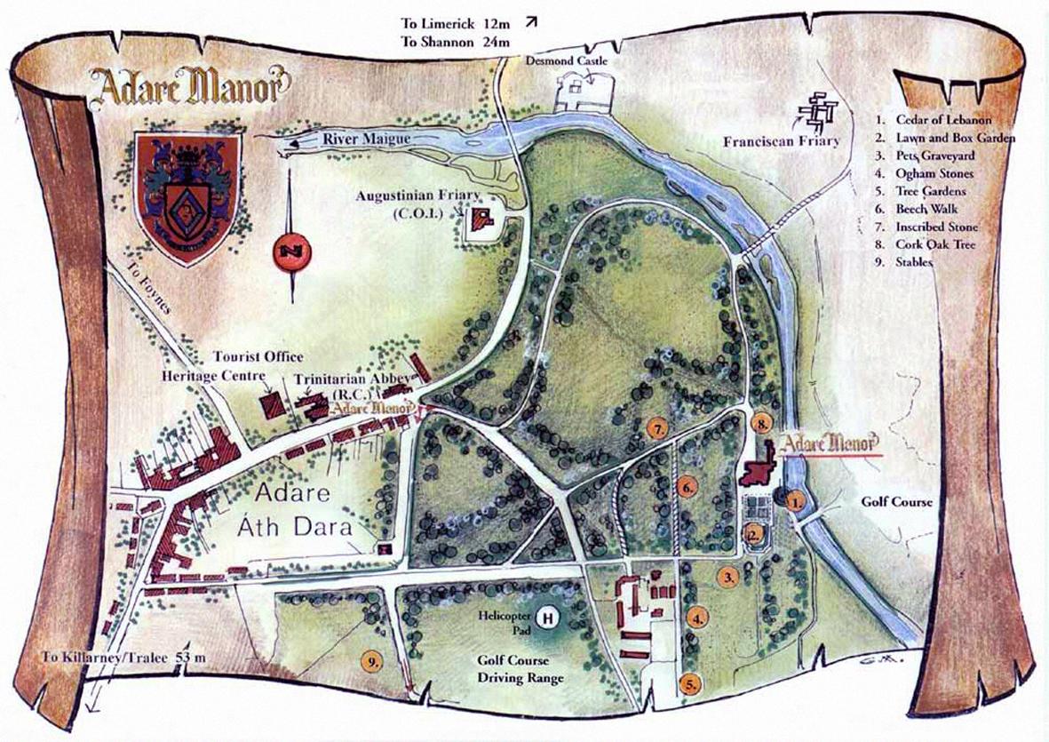 Adare Castle Ireland Map.Windsong Rihla Journey 33 Adare Limerick Ireland Mistletoe