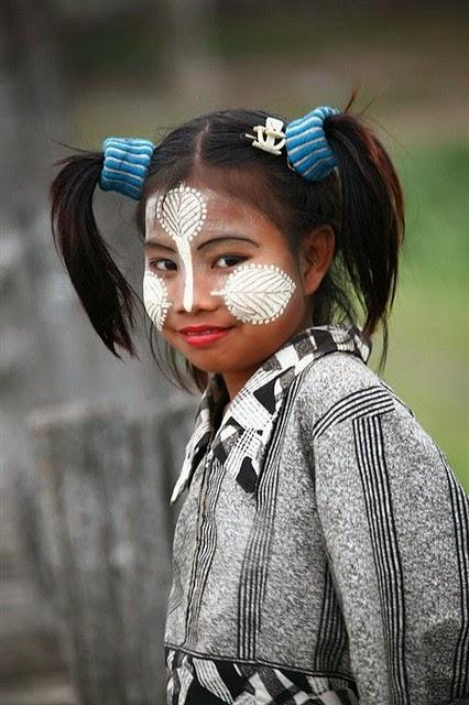 Thakana girl, Myanmar