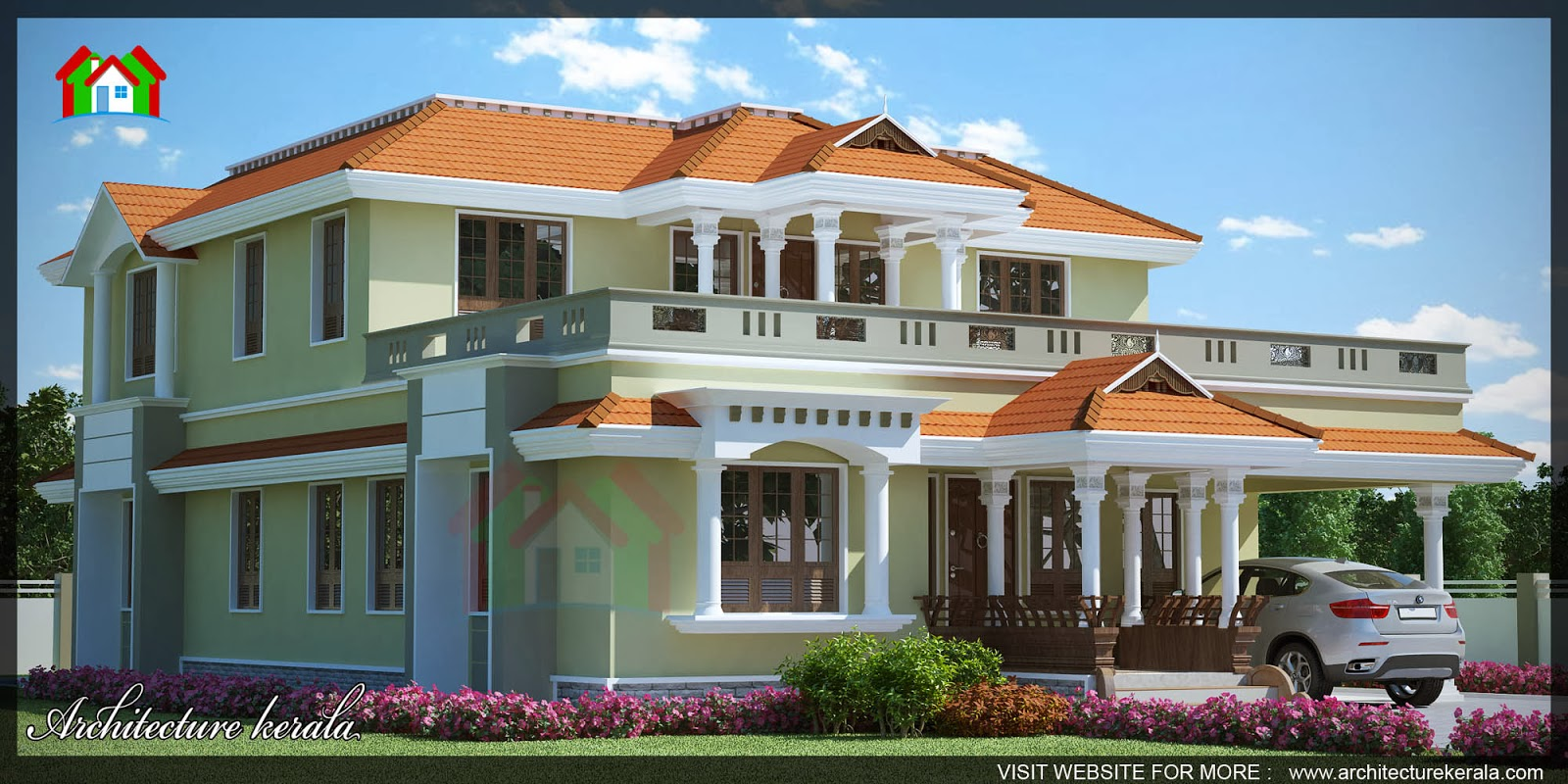 3000 square feet house with office room architecture kerala for 3000 sq ft house plans kerala