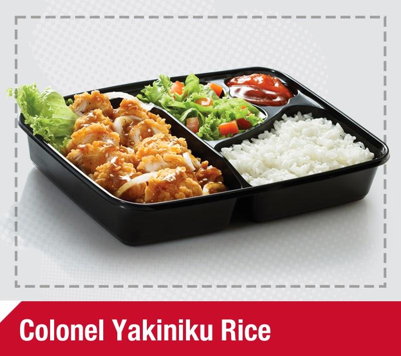 Daftar harga paket yakiniku rice kfc oktober 2013 pusat for Loves fish box menu