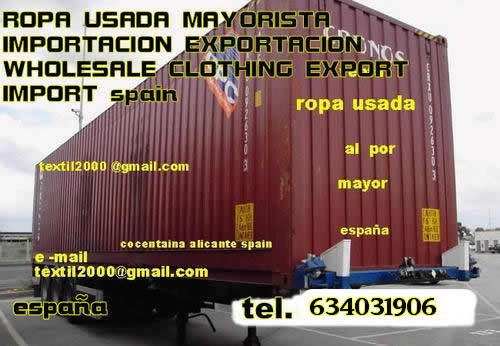 venta ropa usada al por mayor