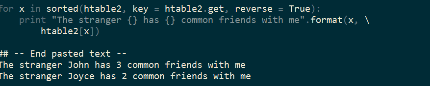 Spark practice (1): find the stranger that shares the most friends with me